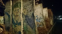 This March 2020 image shows sections of the Berlin Wall at the Berlin Wall Memorial. (The Mainichi/Chinami Takeichi)