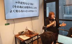 ソウル市新村で日本への就職あっせん事業を行う「KOREC」の代表の春日井萌さん=2020年12月12日、日下部元美撮影