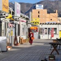 人影がまばらな「おおふなと夢商店街」=岩手県大船渡市大船渡町で2013年1月11日午後2時9分、金寿英撮影