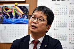 石橋通宏氏=伊藤奈々恵撮影