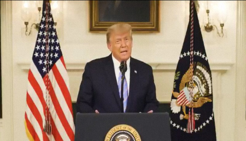 トランプ大統領、選挙の負け認める