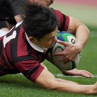 【天理大―早大】後半、トライを決める早大の伊藤=東京・国立競技場で2021年1月11日、滝川大貴撮影
