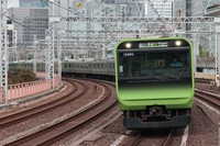 A JR Yamanote Line train is seen in this file photo taken from Yurakucho Station on Sept. 16, 2020. (Mainichi)