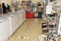 This photo shows inside a convenience store in Otsu, Shiga Prefecture. (Mainichi/Kengo Suga)