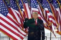 U.S. President Donald Trump arrives to speak at a rally on Jan. 6, 2021, in Washington. (AP Photo/Jacquelyn Martin)