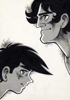 """Ashita no Joe"" protagonist Joe Yabuki, left, and his rival Toru Rikiishi are seen in this image (c)Asao Takamori & Tetsuya Chiba / Kodansha Ltd."