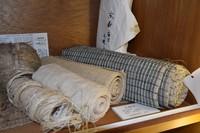 Fabric made from hemp fiber is seen at the Hemp Museum in Nasu, Tochigi Prefecture, on Nov. 17, 2020. (Mainichi/Yuri Sanada)