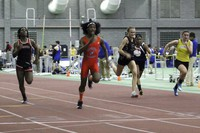 In this Feb. 7, 2019 file photo, Bloomfield High School transgender athlete Terry Miller, second from left, wins the final of the 55-meter dash over transgender athlete Andraya Yearwood, far left, and other runners in the Connecticut girls Class S indoor track meet at Hillhouse High School in New Haven, Connecticut. (AP Photo/Pat Eaton-Robb)