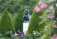 In this May 31, 2011 file photo, people stand in the garden of the Rodin museum in Paris. (AP Photo/Remy de la Mauviniere)