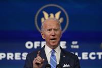 U.S. President-elect Joe Biden speaks during an event at The Queen theater on Jan. 14, 2021, in Wilmington. (AP Photo/Matt Slocum)