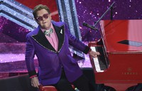 In this Sunday, Feb. 9, 2020 file photo, Elton John performs