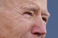 President-elect Joe Biden tears up as he speaks at the Major Joseph R.