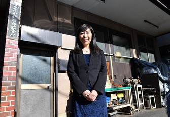 ダイヤ精機の諏訪貴子さん=東京都大田区で宮間俊樹撮影