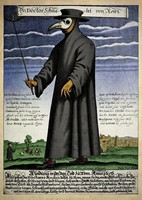 A plague doctor of 17th century Rome.