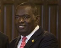 In this Jan, 12, 2020 file photo, Zimbabwe's Foreign Minister Sibusiso Moyo in Harare, Zimbabwe. (AP Photo/Tsvangirayi Mukwazhi)