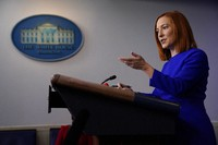 White House press secretary Jen Psaki speaks during a press briefing at the White House, on Jan. 20, 2021, in Washington. (AP Photo/Evan Vucci)