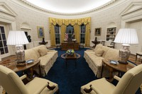 The Oval Office of the White House is newly redecorated for the first day of President Joe Biden's administration, on Jan. 20, 2021, in Washington. (AP Photo/Alex Brandon)