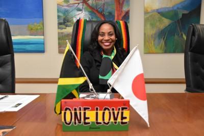 レゲエは世界を結ぶ「大使」でもあると話したショーナケイ・リチャーズ駐日ジャマイカ大使=東京都港区で2021年1月6日、中村聡也撮影