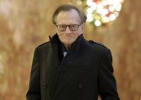 In this Dec. 1, 2016 file photo, Larry King arrives at Trump Tower in New York. King, who interviewed presidents, movie stars and ordinary Joes during a half-century in broadcasting, has died at age 87. (AP Photo/Richard Drew, File)