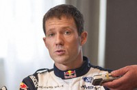 In this Jan. 25, 2018 file photo, French driver Sebastien Ogier on M-Sport Ford speaks to the media prior to the start of the 86th Monte Carlo Rally, in Monaco. (AP Photo/Christian Alminana)