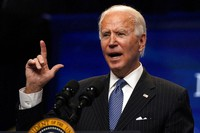 President Joe Biden speaks during an event on American manufacturing, in the South Court Auditorium on the White House complex, on Jan. 25, 2021, in Washington. (AP Photo/Evan Vucci)