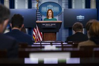 White House press secretary Jen Psaki speaks during a press briefing at the White House, on Jan. 25, 2021, in Washington. (AP Photo/Evan Vucci)
