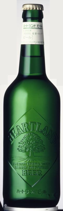 1986年当時の「ハートランド」グリーンボトル