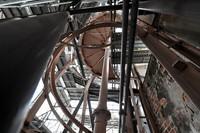 Spiral stairs inside the Atomic Bomb Dome are seen in Hiroshima's Naka Ward on Jan. 27, 2021. (Mainichi/Naohiro Yamada)