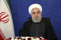 In this Jan. 7, 2021 file photo released by the official website of the office of the Iranian Presidency, President Hassan Rouhani attends a meeting in Tehran, Iran. (Iranian Presidency Office via AP)