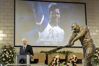Atlanta Braves Chairman Terry McGuirk speaks during