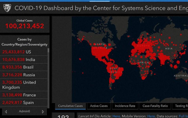 コロナ感染 世界で1億人に