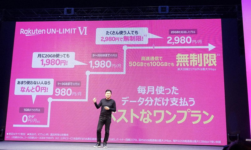 楽天モバイルは料金プランを段階制の「アンリミット6」に改定する