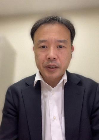 海外で確認されている変異株についてリスク評価をしている国立感染症研究所の斎藤智也さん=「スカイプ」から2021年1月29日