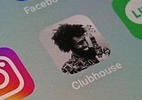 An icon for free voice-only social network Clubhouse is seen. (Mainichi)