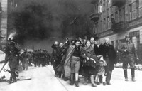 In this 1943 photo, a group of Polish Jews are led away for deportation by German SS soldiers, during the destruction of the Warsaw Ghetto by German troops after an uprising in the Jewish quarter. (AP Photo)