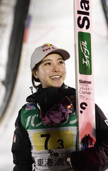 This Jan.18, 2020 file photo shows Sara Takanashi. (Mainichi)
