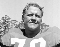 This 1973 file photo shows defensive tackle of the San Francisco 49ers Charlie Krueger (70). (AP Photo/Robert H. Houston, File)