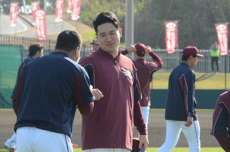 楽天・田中将大投手がキャンプに合流