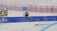 In this Jan. 20, 2019 file photo, Liechtenstein's Tina Weirather speeds down during an alpine ski, women's World Cup super-G in Cortina D'Ampezzo, Italy. (AP Photo/Giovanni Auletta)