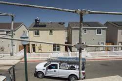 米カリフォルニア州の住宅のサンランのソーラーパネル Bloomberg