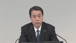 オンラインで決算内容を説明する日産の内田誠社長
