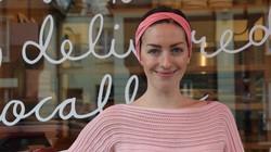 パン屋を始めたソフィア・サットンジョーンズさん=ロンドンで2021年2月6日、横山三加子撮影