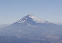 Mount Fuji is seen from a Mainichi Shimbun helicopter flying over Shizuoka Prefecture. (Mainichi)