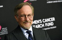 """In this Feb. 28, 2019, file photo, filmmaker Steven Spielberg poses at the 2019 """"An Unforgettable Evening"""" benefiting the Women's Cancer Research Fund, at the Beverly Wilshire Hotel, in Beverly Hills, Calif. (Photo by Chris Pizzello/Invision/AP)"""