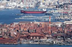 日本製鉄は2020年2月、呉製鉄所(広島県)の全面閉鎖を決めた(20年1月、広島県呉市)
