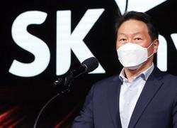 EUV工場の完成を祝う崔泰源(チェ・テウォン)SKグループ代表取締役開帳 SKハイニックス提供