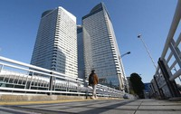 The Tokyo 2020 Olympics and Paralympics organizing committee is housed here in Harumi Triton Square, in Tokyo's Chuo Ward. (Mainichi/Hiroshi Maruyama)