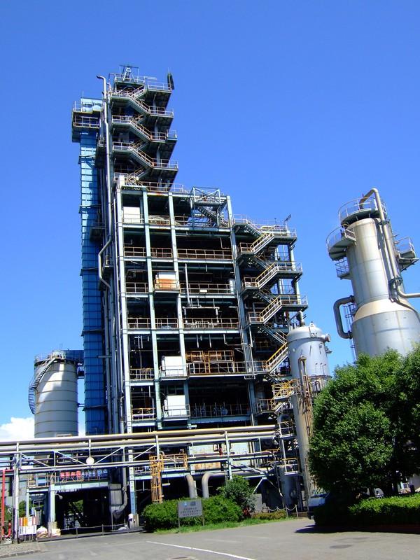 昭和電工の廃棄プラスチックガス化施設(昭和電工提供)