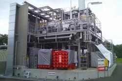 日揮ホールディングスのグリーン水素由来のアンモニア実証プラント(同社提供)