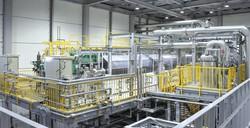 旭化成の10㍋㍗級のアルカリ水電解システム 同社提供